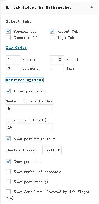 WordPress侧边栏TAB选项卡插件WP Tab Widget 第2张